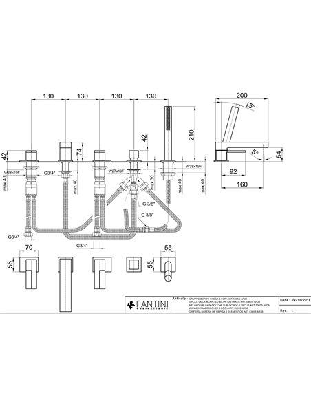 5365S Смеситель FANTINI AR/38