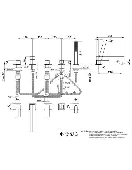 5366S Смеситель FANTINI AR/38