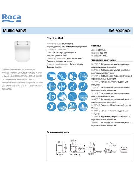 804008001 Multiclean Roca Premium Soft