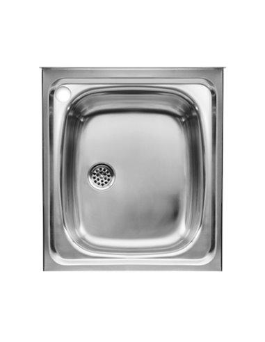 870410453 Мойка кухонная стальная одинарная Roca E (450 мм)