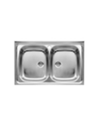870420903 Мойка кухонная стальная двойная Roca E (800 мм)