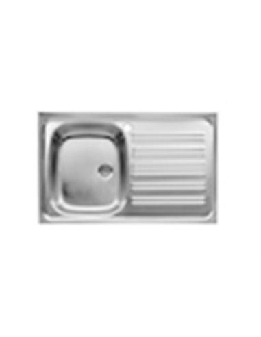 870430803-1 Мойка кухонная стальная одинарная Roca E (900 мм)