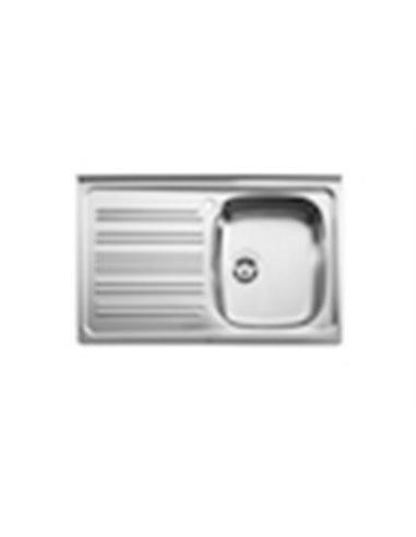 870440903-1 Мойка кухонная стальная одинарная Roca E (900 мм)