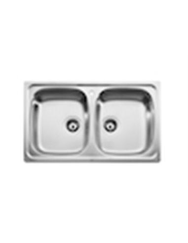 870510801 Мойка кухонная стальная двойная Roca J (800 мм)