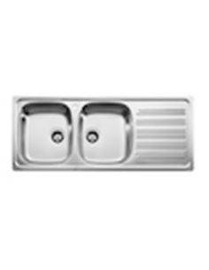 870530901 Мойка кухонная стальная двойная Roca J (1200 мм)