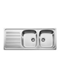 870540901 Мойка кухонная стальная двойная Roca J (1200 мм)
