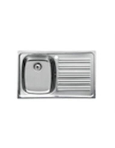 876630805 Мойка кухонная стальная одинарная Roca P (800 мм)