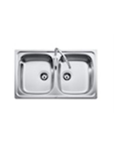 9458_004_01989 Мойка кухонная стальная двойная Roca J (1000 мм)