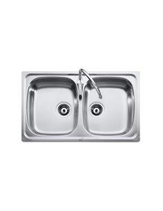 A870510901 Мойка кухонная стальная двойная Roca J (900 мм)