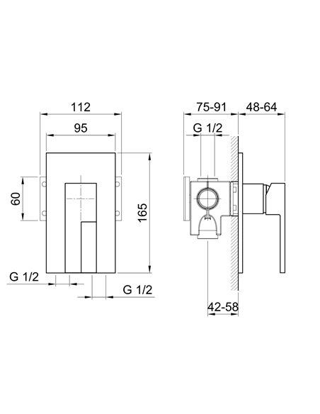 E263SB+D063A Смеситель FANTINI AR/38