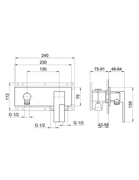 E288SB+D013A Смеситель FANTINI AR/38