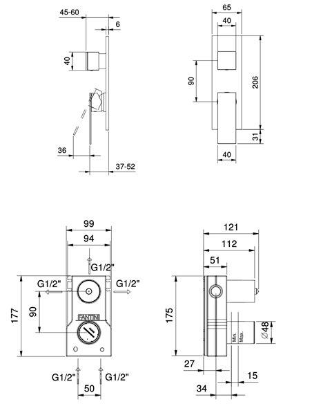 F087B+M087A Смеситель FANTINI MINT