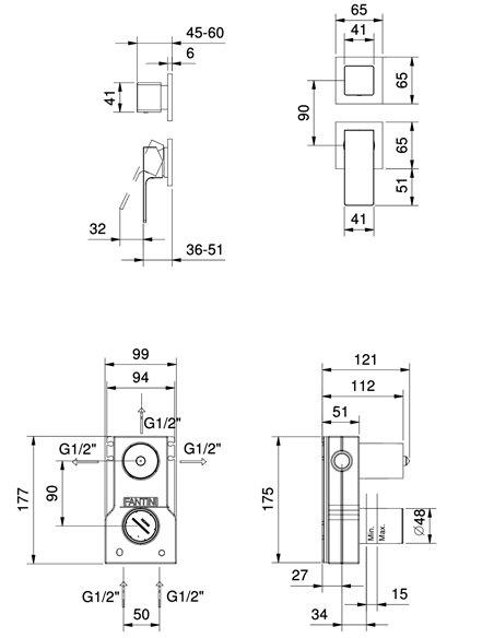 F089B+M087A Смеситель FANTINI MINT