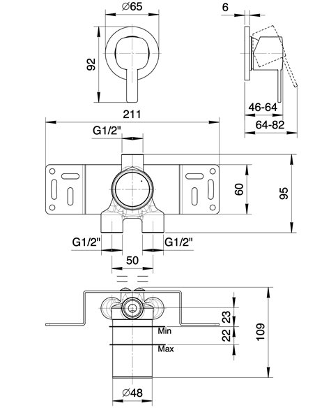 M163B+M063A Смеситель FANTINI LAMÉ