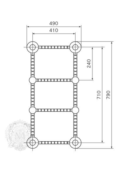 ML.CLE-EL.700.BR Полотенцесушитель Migliore CLEOPATRA (Бронза)