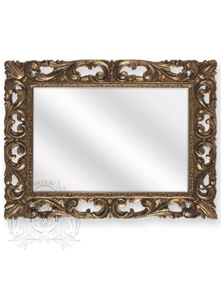 ML.COM-70.502.BR Зеркало CDB прямоугольное ажурное (Бронза)
