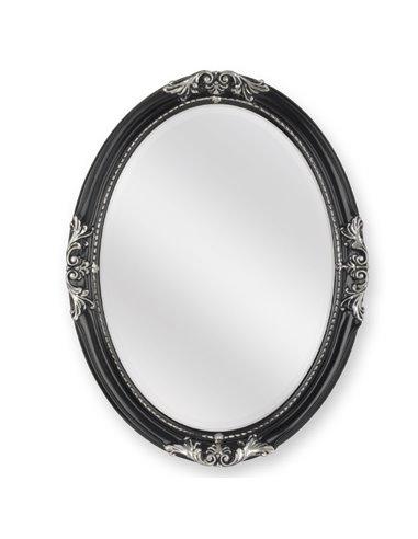 ML.COM-70.503.NR.AG Зеркало CDB овальное (Черный/декор серебро)