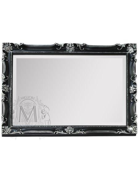 ML.COM-70.504.NR.AG Зеркало CDB прямоугольное (Черный/декор серебро)