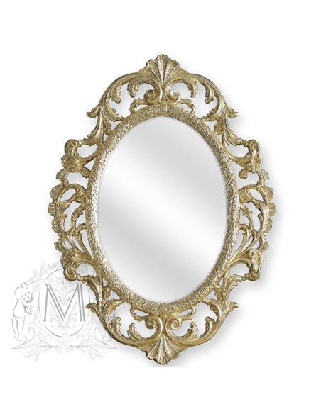 ML.COM-70.507.DO Зеркало CDB овальное ажурное (Золото сусальное)