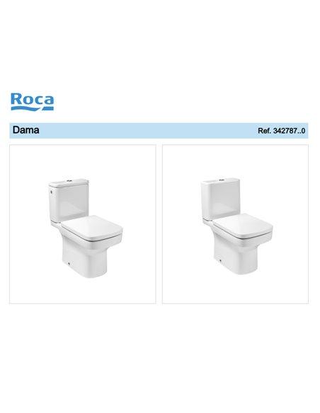 342787000 Унитаз компакт ROCA Dama