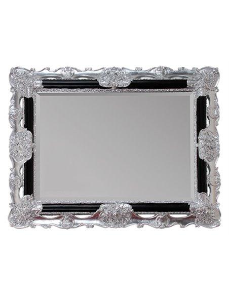 ML.COM-70.508.NR.AG Зеркало CDB прямоугольное фигурное (Черный/декор серебро)