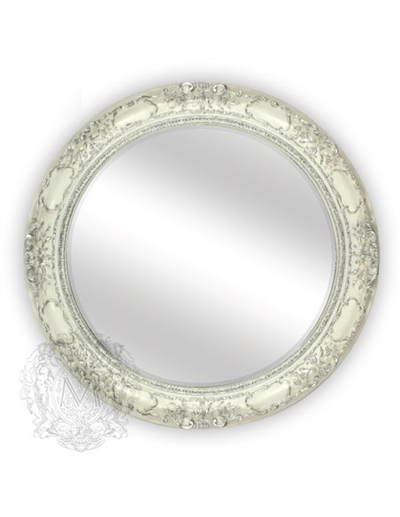 ML.COM-70.509.AV.AG Зеркало CDB круглое (Аворио/декор серебро)