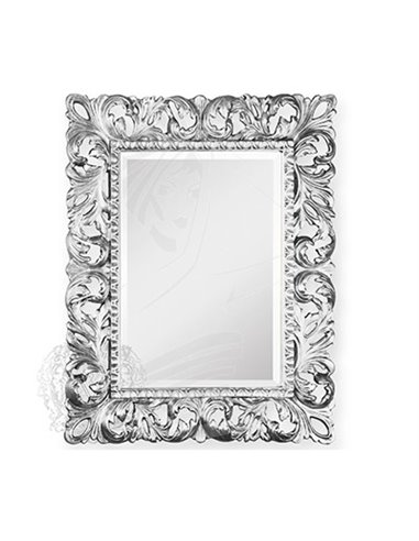 ML.COM-70.701.AG Зеркало CDB прямоугольное ажурное (Серебро)