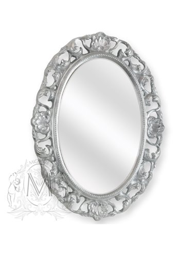 ML.COM-70.703.AG Зеркало CDB овальное ажурное (Серебро)