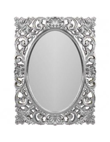 ML.COM-70.721.AG Зеркало CDB прямоугольное ажурное (Серебро)