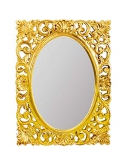 ML.COM-70.721.DO Зеркало CDB прямоугольное ажурное (Золото сусальное)