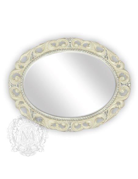 ML.COM-70.724.AV.AG Зеркало CDB овальное ажурное (Аворио/декор серебро)