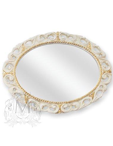 ML.COM-70.724.AV.DO Зеркало CDB овальное ажурное (Аворио/декор золото)