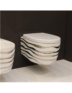 Подвесной унитаз Ceramica Ala Wave WAVWCWH/Bronze