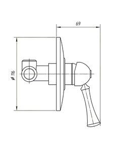 ML.CRS-60.202.BR Стакан Migliore CRISTALIA (Бронза)