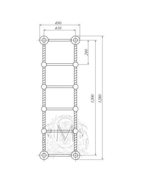 ML.EDR-HY.210.BR Полотенцесушитель Migliore EDERA (Бронза)