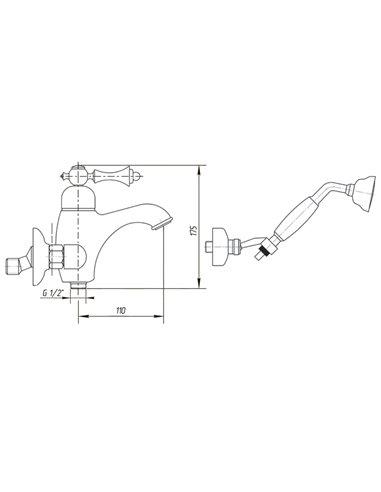 ML.ELB-60.102.BR Стакан Migliore ELISABETTA (Бронза)