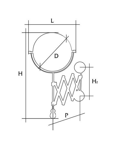 ML.ELB-60.119.BR Зеркало Migliore ELISABETTA (Бронза)