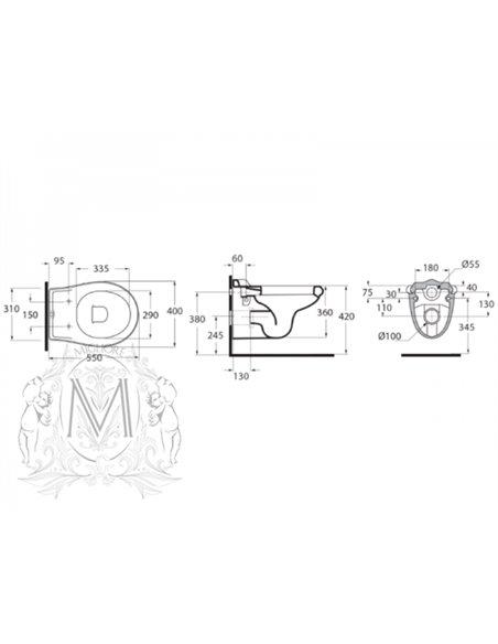 ML.IMP-25.340.BI Унитаз Migliore IMPERO (Белый)