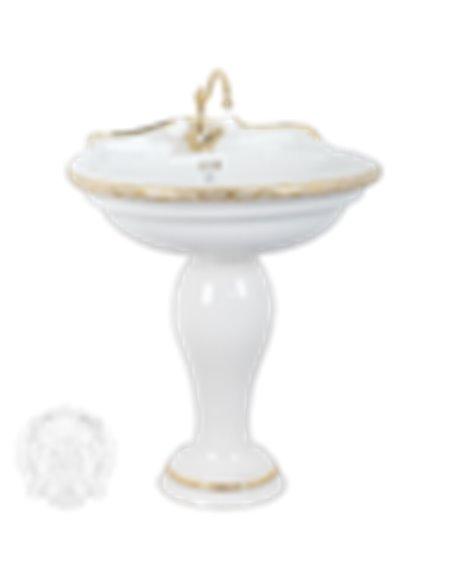 ML.MLD-25.773.D4.DO Раковина Migliore MILADY (Белый/декор золото D4 (RUSSO))