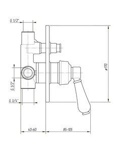 ML.MRL-4410.BT Стакан Migliore MIRELLA (Тосканская бронза)