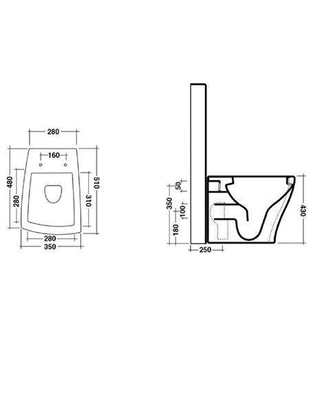 Унитаз напольный-компакт CERAMICA ALA CRAZY 25MB/CM