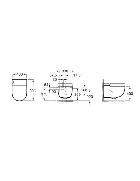 893301000 Унитаз ROCA Meridian со встроенным бачком