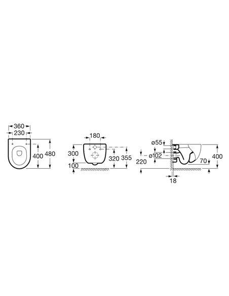 346248000 Унитаз ROCA Meridian компакт