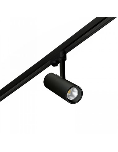 Трековый светильник Small Leak черный LED 7W 2700K 60є
