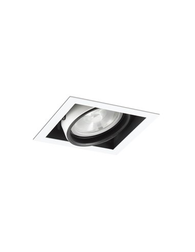 Встраиваемый светильник Colin-1 белый QR-111 50Вт