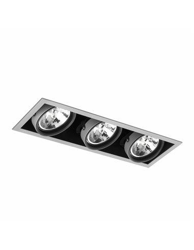 Встраиваемый светильник Colin-3 серый QR-111 50Вт
