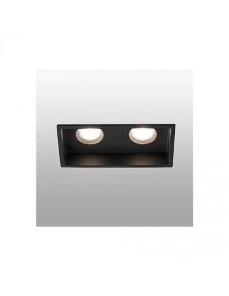 Встраиваемый светильник Hyde черный 2Л GU10 IP44