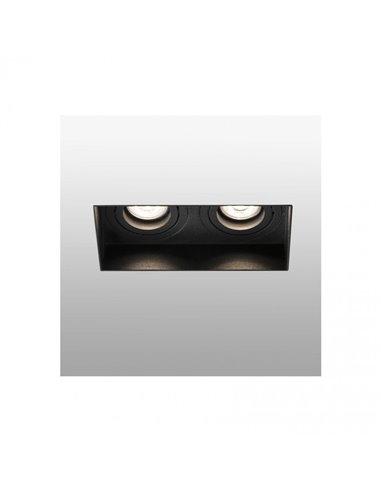 Встраиваемый светильник Hyde черный без рамки 2L GU10