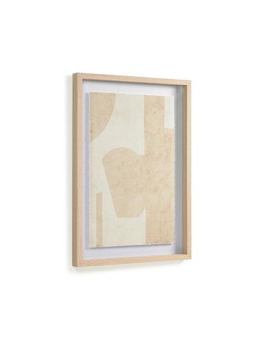 Картина Nannete с геометрическими фигурами в бежевом цвете 50 x 70 см