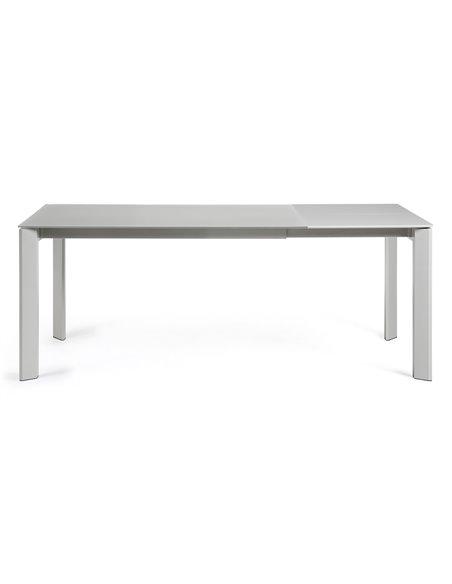 Стол Atta 140 (200) x90 серый, стекло
